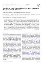Investigation of the Contamination of Fractured Formations by Non ...