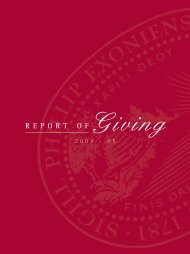 the report of giving - Phillips Exeter Academy