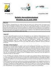Bulletin Agrométéorologique Situation au 31 août 2009