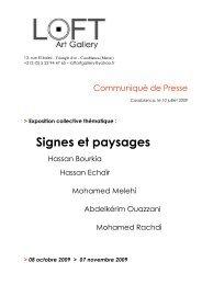 Signes et paysages - Founoune