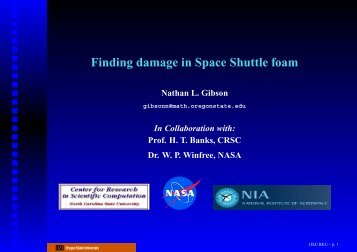 Finding damage in Space Shuttle foam