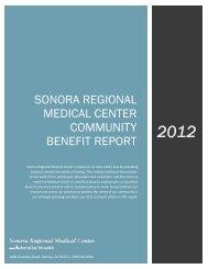2012 Community Benefit Report Legal - Sonora Regional Medical ...