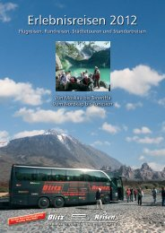 Erlebnisreisen 2012 - Blitz-Reisen HomePage