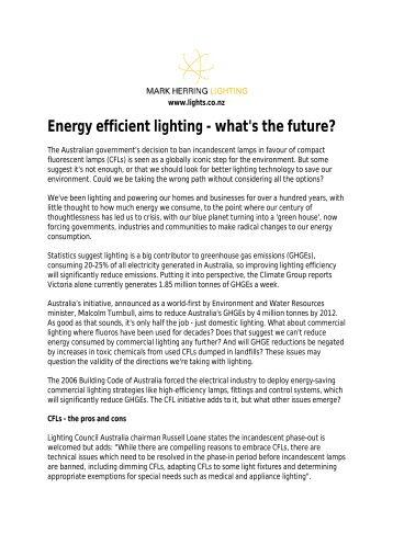 Energy efficient lighting - what's the future?