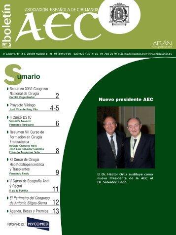 BOLETIN 5 - AEC_____Asociación Española de Cirujanos