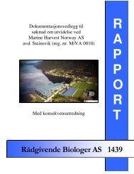 Dokumentasjonsvedlegg til søknad om utvidelse ved Marine ...