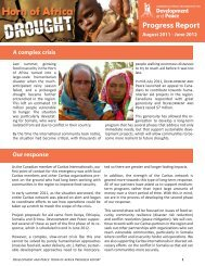 June 2012 Horn of Africa Progress Report - Development and Peace