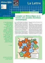 Lettre INSEE - Région Rhône-Alpes