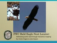 FWC Bald Eagle Nest Locator: - Organization of Fish and Wildlife ...