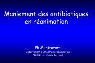 Montravers P - Maniement des antibiotiques en réanimation - SRLF