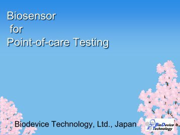 Biosensor for Point-of-care Testing