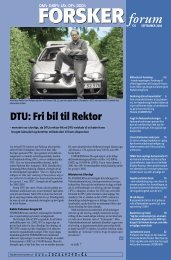 DTU: Fri bil til Rektor - FORSKERforum