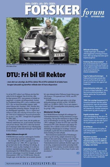 DTU: Fri bil til Rektor - FORSKERforum