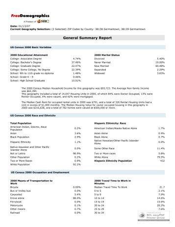 General Summary Report
