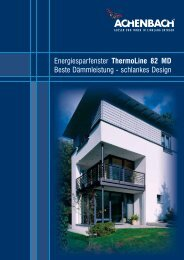 Prospekt ThermoLine 82 MD - Achenbach Fensterbau GmbH