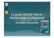 Le guide SDAGE Rhône- Méditerranée et Urbanisme