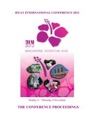 THE CONFERENCE PROCEEDINGS - IFEAT