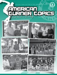 August/September/October 2009 Vol. 66 No.1 - American Turners