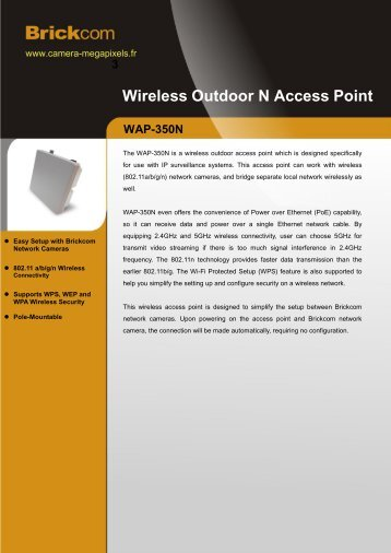 Wireless Outdoor N Access Point - Camera Megapixels