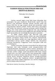FASHION SEBAGAI PENCITRAAN DIRI DAN IDENTITAS BUDAYA