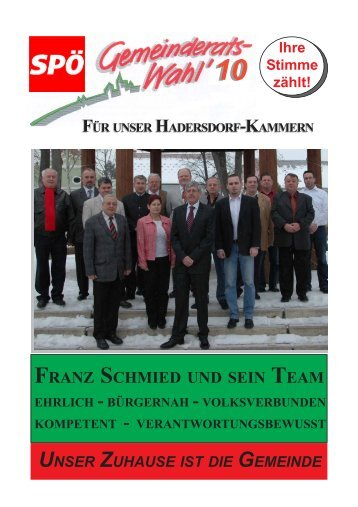 für Hadersdorf-Kammern - spö hadersdorf-kammern