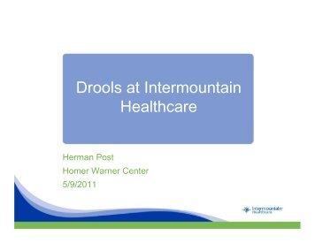 Drools at Intermountain Healthcare - Mayo Clinic Informatics