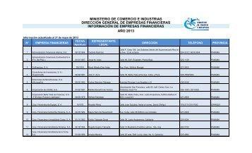 ministerio de comercio e industrias dirección general de empresas ...