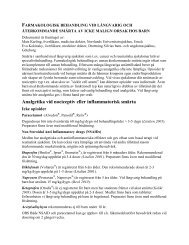 farmakologisk behandling vid långvarig och återkommande smärta ...