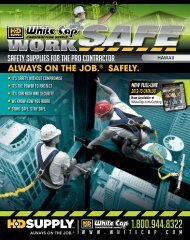 Safety supplies for the pro contractor - White Cap Construction Supply