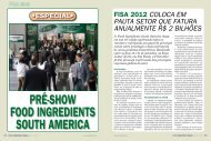 pré-show food ingredients south america