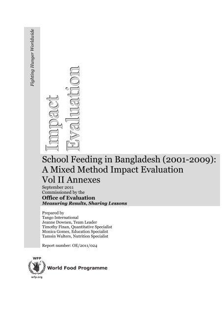 A Mixed Method Impact Evaluation Vol II Annexes - Vol. II