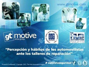 """""""Percepción y hábitos de los automovilistas Percepción y ... - Gt Motive"""