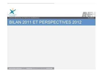 bilan 2011 et perspectives 2012 - ANFH