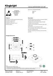 3.5x2.8mm SURFACE MOUNT LED LAMP Features Description ...