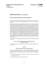 Mitteilung des Senats vom 13. August 2002 - Bremische ...
