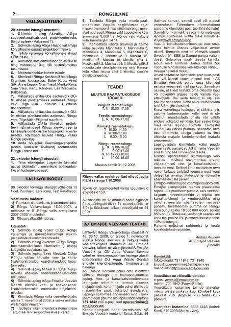 November 2008 - Rõngu Vald