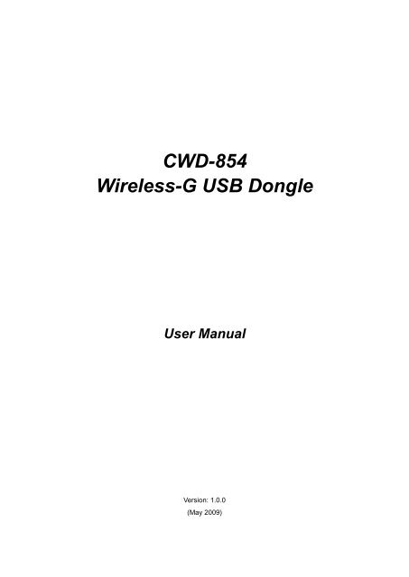 driver cnet wireless-g usb dongle cwd-854