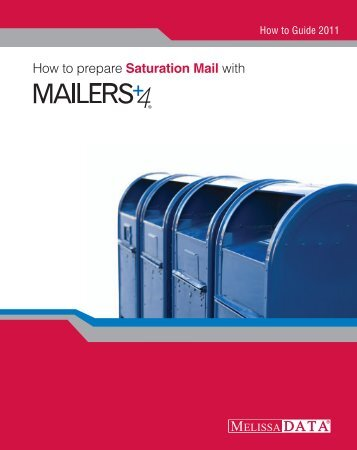 How to prepare Saturation Mail with - Melissa Data