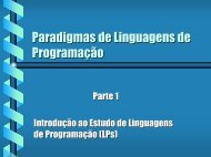 Paradigmas de Linguagens de Programação - Departamento de ...