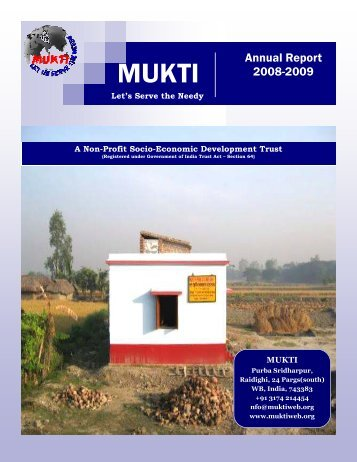 Mukti Annual Report 2008 2009 - Asha for Education