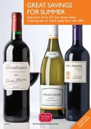 GREAT SAVINGS FOR SUMMER - The Wine Society
