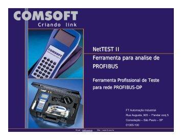 NetTEST II Ferramenta para analise de PROFIBUS - FT Automação