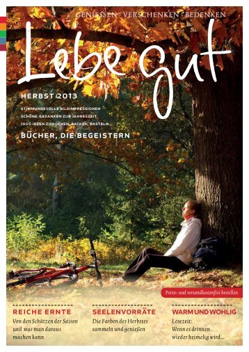 Beileger in der Landlust Ausgabe November/Dezember - Lebe gut