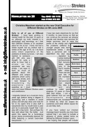 Newsletter 28 - Different Strokes