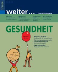 weiter... Das WBS Magazin 2/ 2009 - WBS Training AG