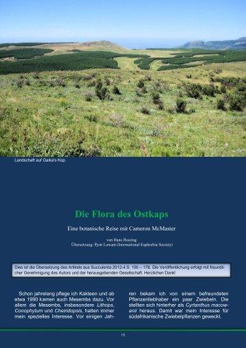 Die Flora des Ostkaps - African Bulbs Homepage