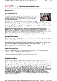 Berufsinformationen einfach finden Altenpfleger/in Seite 1 von 30 ...