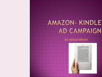 Amazon- Kindle Ad Campaign