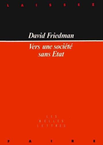 Vers une societe sans Etat - David Friedman