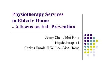 Physiotherapy Services in Elderly Home - Hong Kong Physiotherapy ...